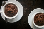 dark chocolate pudding-mousse