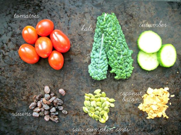 blt salad labelled