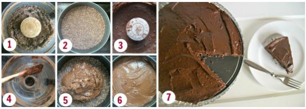 mousse cake steps