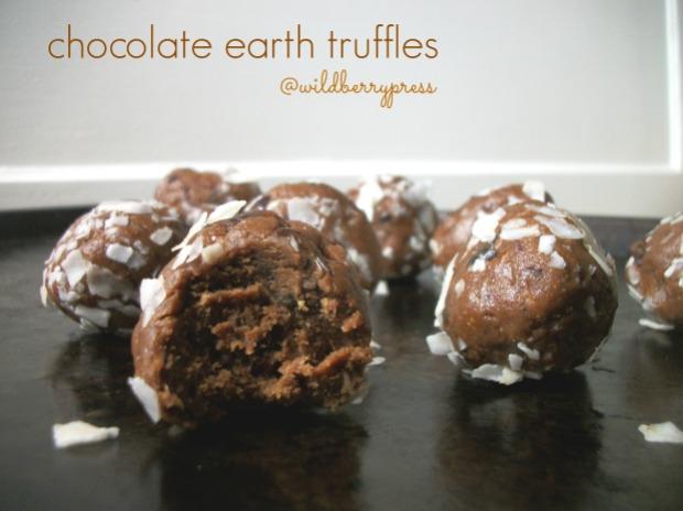 chocolate earth truffles