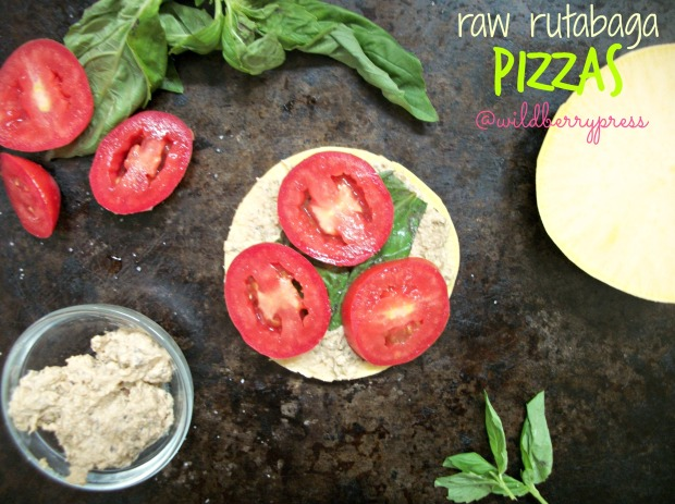 raw rutabaga pizzas